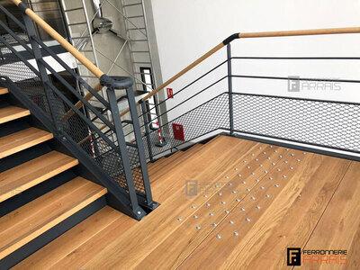 Escalier bois acier